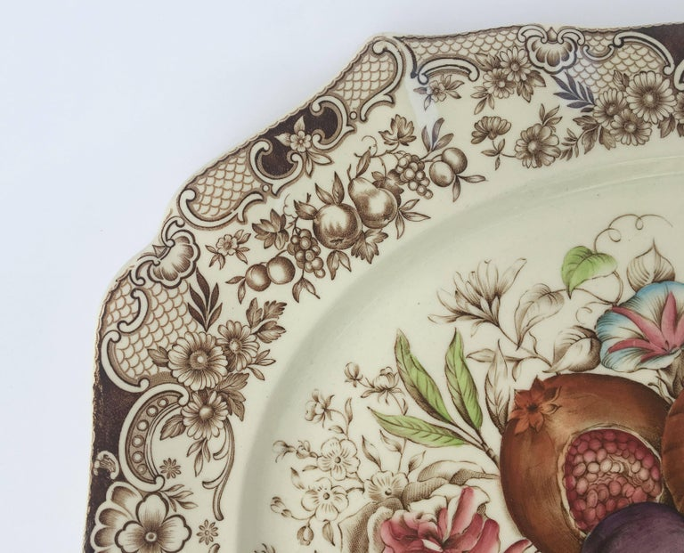English Transferware Large Platter, Harvest Fruit Pattern by Johnson Brothers 3