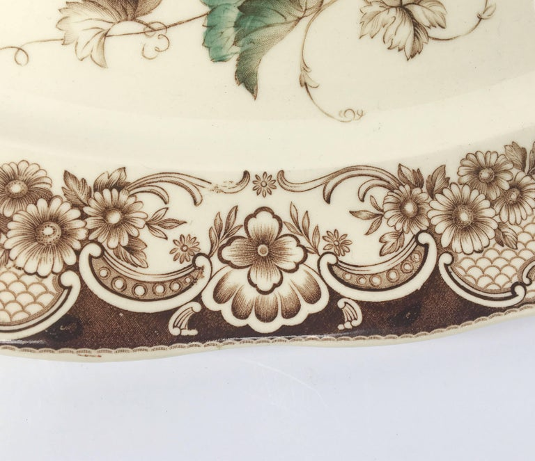English Transferware Large Platter, Harvest Fruit Pattern by Johnson Brothers 7