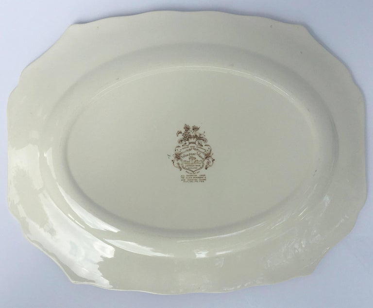 English Transferware Large Platter, Harvest Fruit Pattern by Johnson Brothers 9