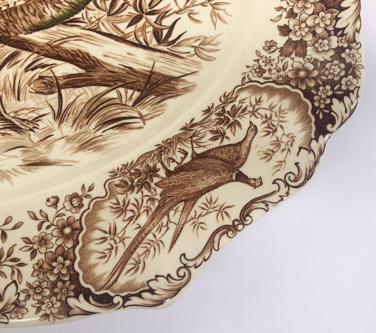 English Transferware Large Platter, Native American by Johnson Brothers In Excellent Condition For Sale In Austin, TX