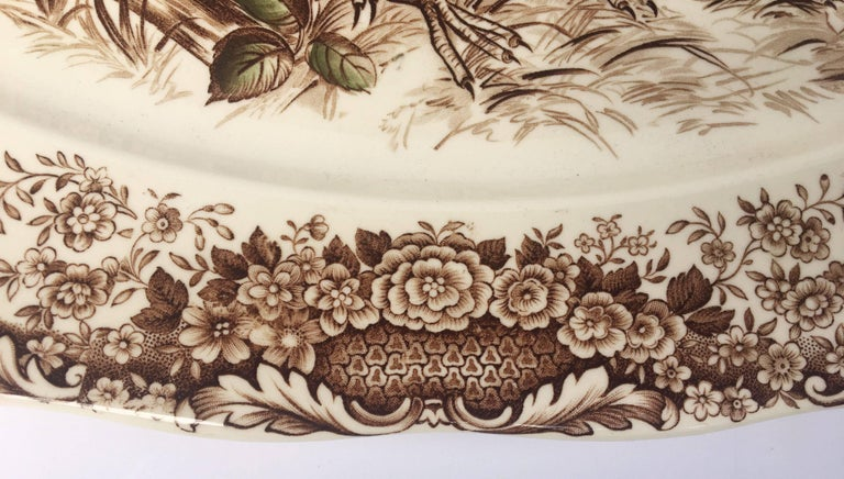 20th Century English Transferware Large Platter, Native American by Johnson Brothers For Sale