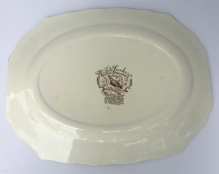 English Transferware Large Platter, Native American by Johnson Brothers For Sale 3