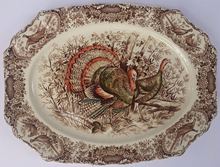 English Transferware Large Platter, Native American by Johnson Brothers For Sale 2