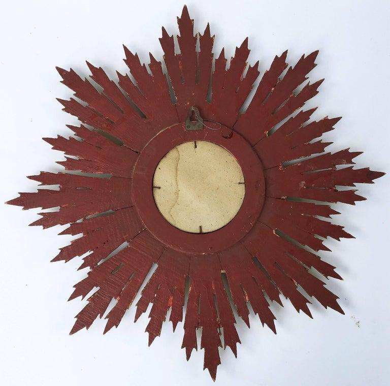 French Gilt Sunburst or Starburst Mirror (Diameter 24) For Sale 3