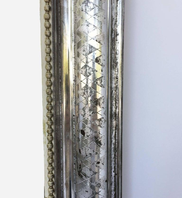 19th Century Louis Philippe Silver Gilt Mirror (H 55 x W 34) For Sale