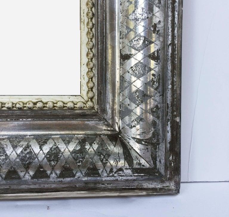 Louis Philippe Silver Gilt Mirror (H 55 x W 34) For Sale 1
