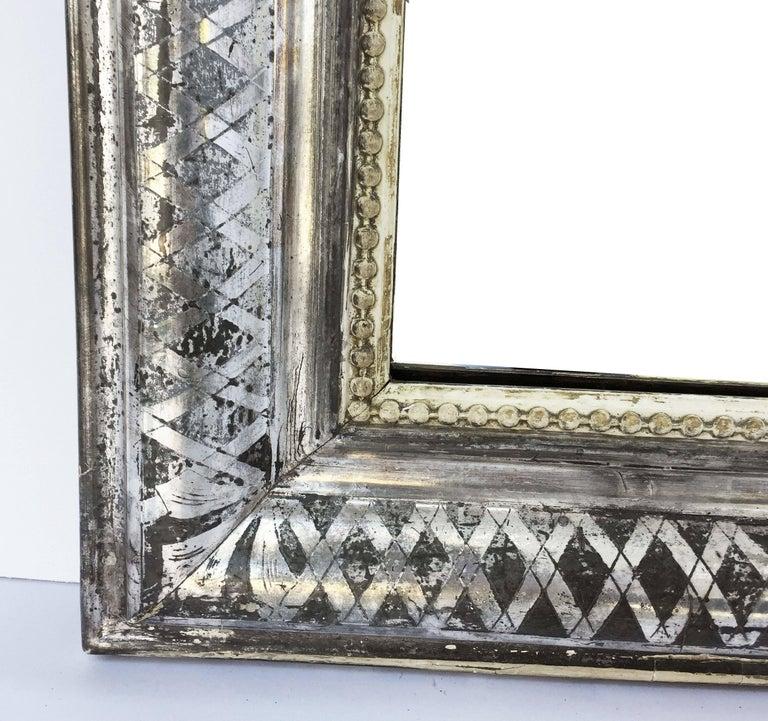 Louis Philippe Silver Gilt Mirror (H 55 x W 34) For Sale 3
