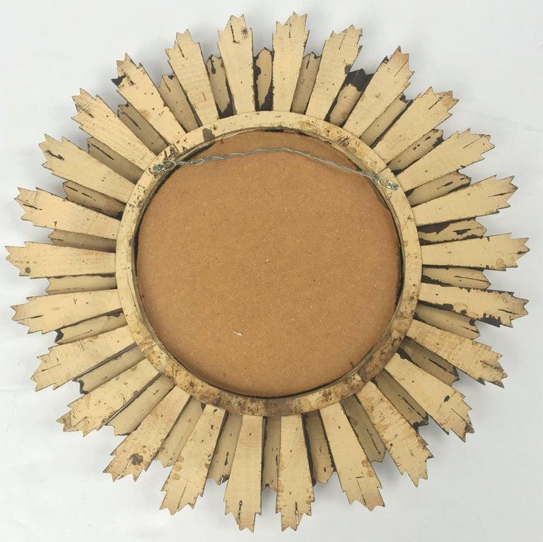 French Gilt Sunburst or Starburst Mirror (Diameter 29) For Sale 5