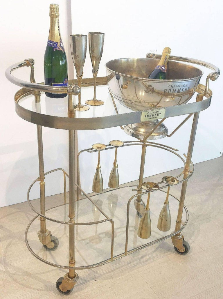 Art Deco Champagne Bar Cart by Pommery For Sale 3