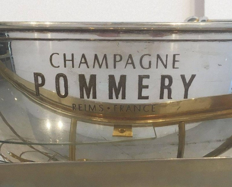 Art Deco Champagne Bar Cart by Pommery For Sale 1