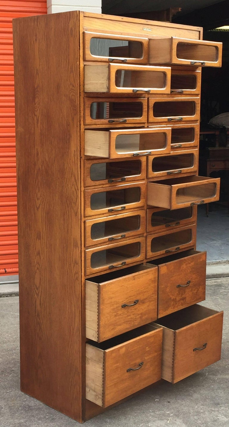 Pair of English Haberdashery Cabinets For Sale 2