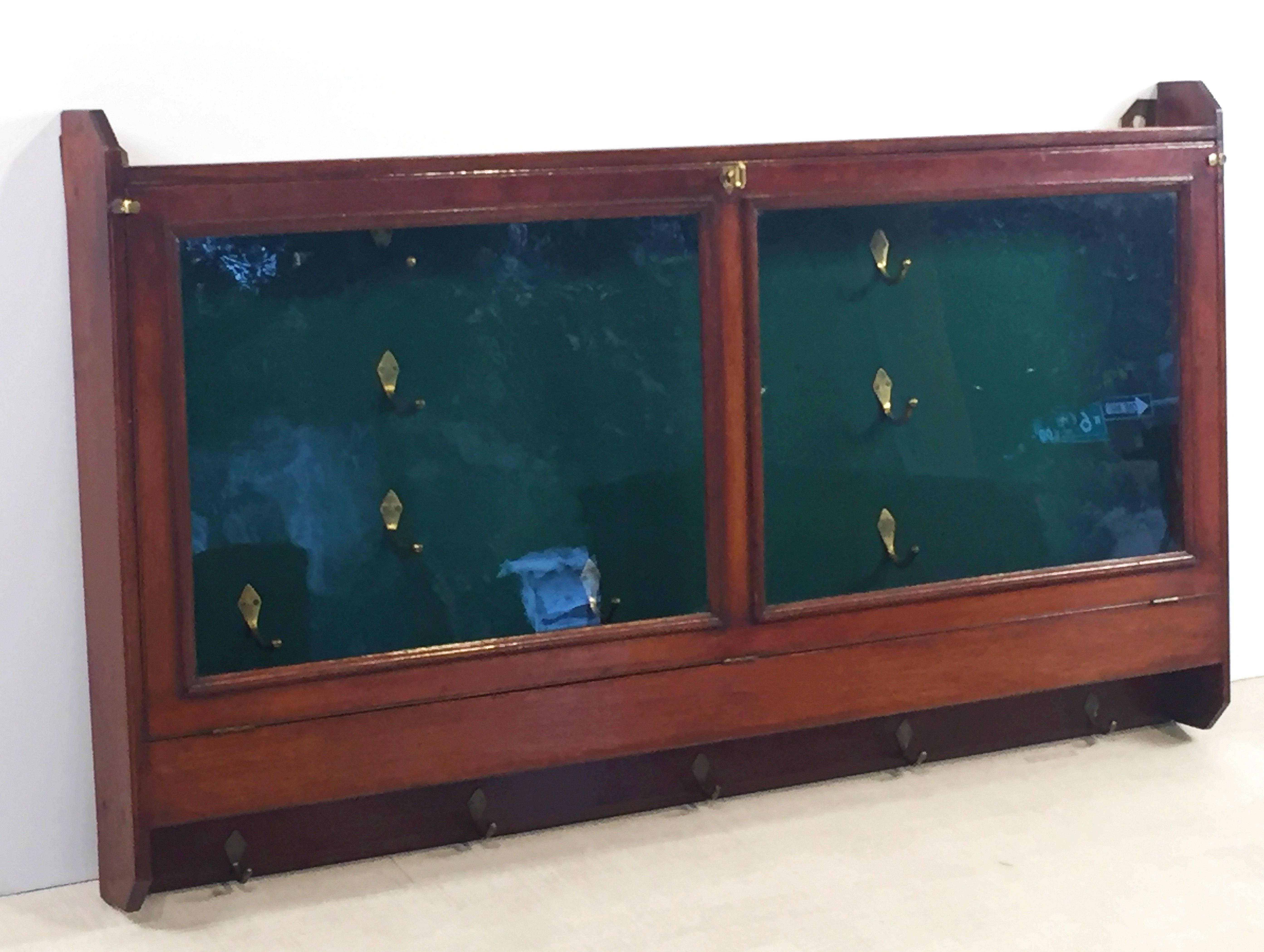 English Hanging Gun Case Or Cabinet