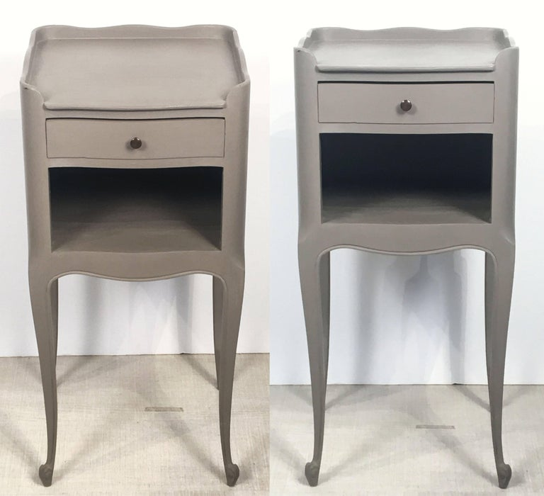20th Century French Painted Side Tables or Nightstands 'Individually Priced' For Sale