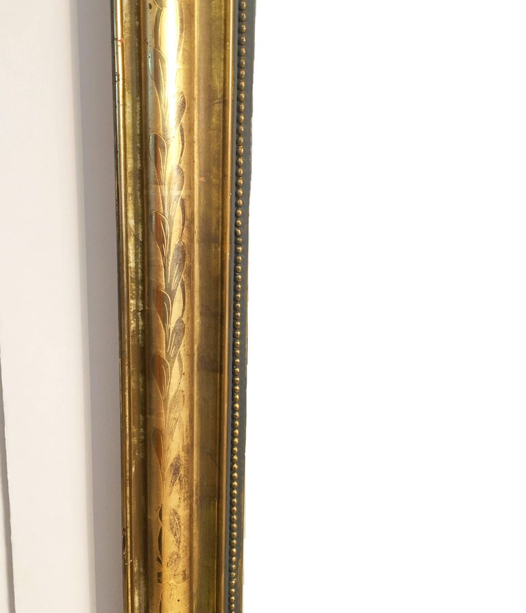 Large Louis Philippe Arch Top Gilt Mirror (H 55 1/4 x W 39 3/4) For Sale 2