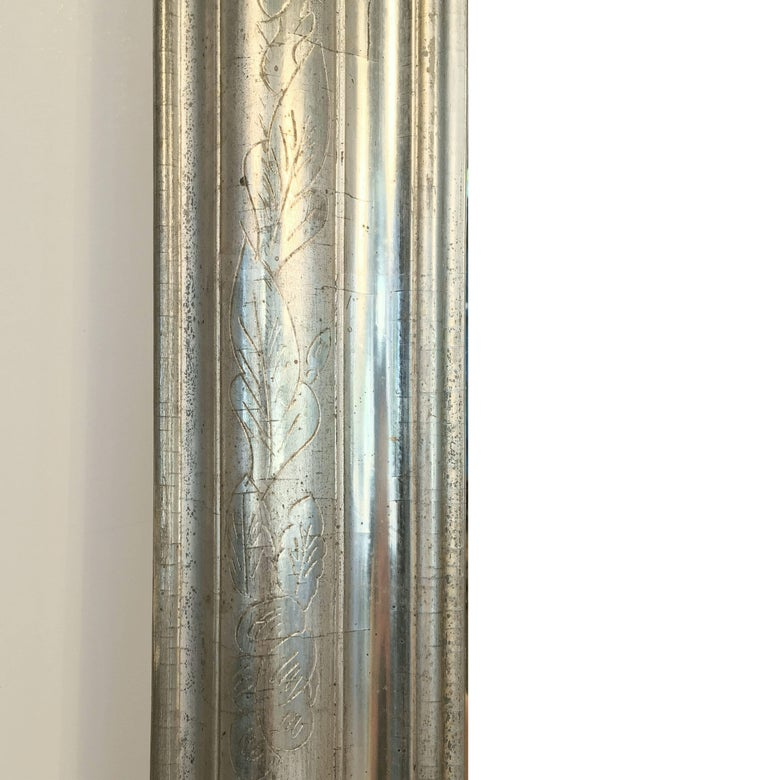 Louis Philippe Silver Gilt Mirror (H 46 x W 30 1/2) For Sale 4