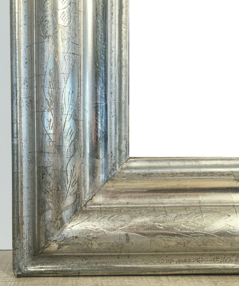Louis Philippe Silver Gilt Mirror (H 46 x W 30 1/2) For Sale 3