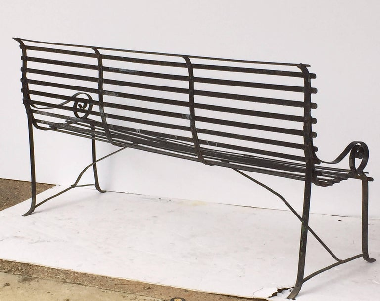 American Garden Seating Bench of Painted Iron 9