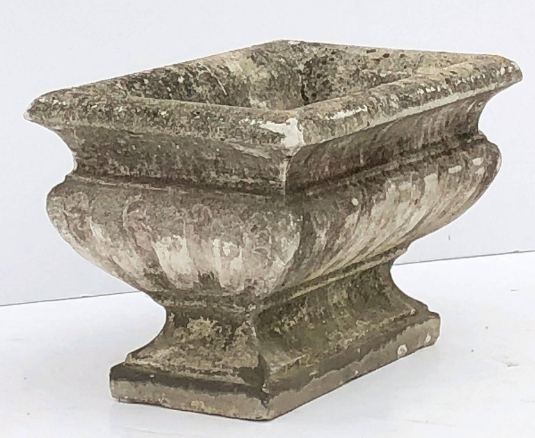 Large Rectangular English Garden Stone Pedestal Trough or Planter For Sale 1