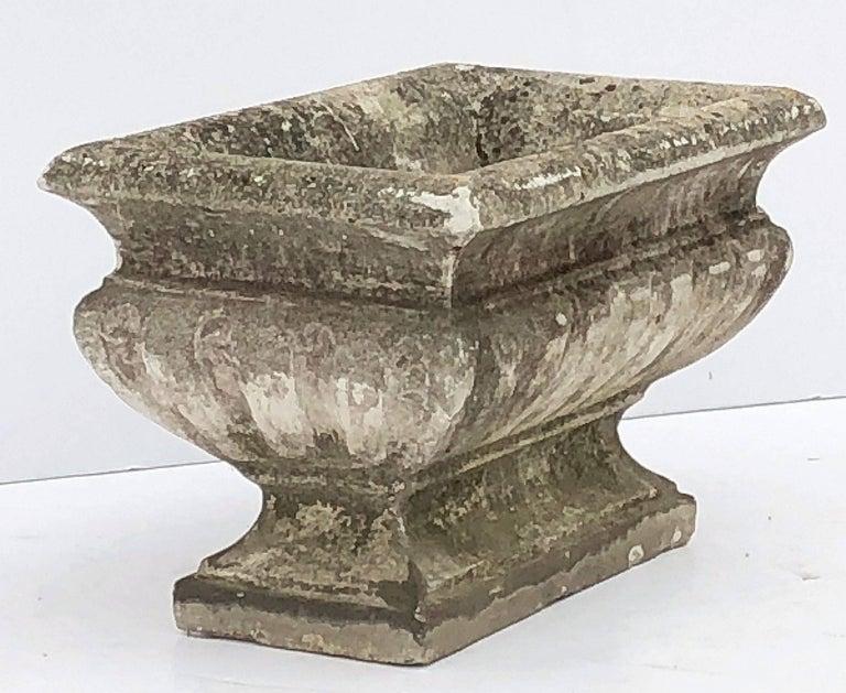 Large Rectangular English Garden Stone Pedestal Trough or Planter For Sale 1
