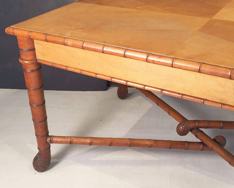 Large Faux Bamboo Table from Italy 6