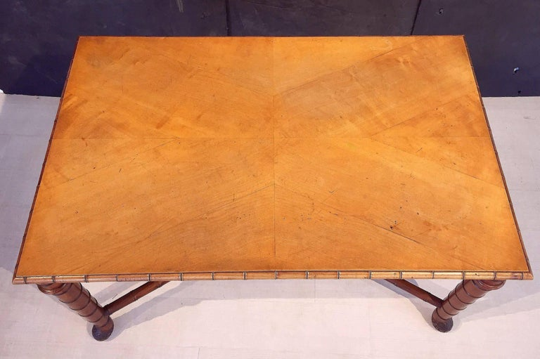 Large Faux Bamboo Table from Italy 5