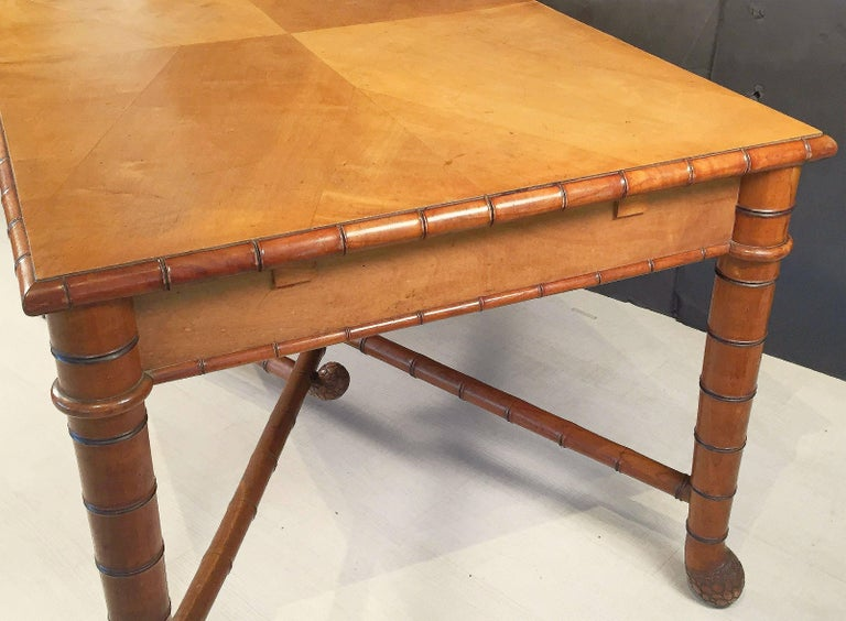Large Faux Bamboo Table from Italy 7