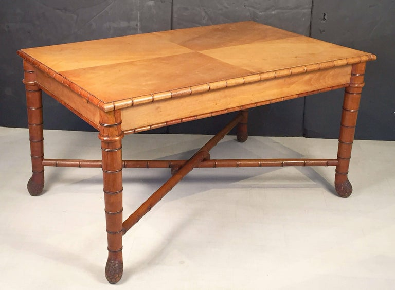 Large Faux Bamboo Table from Italy 2
