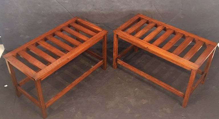 English Luggage Racks of Mahogany 'Individually Priced' In Excellent Condition For Sale In Austin, TX