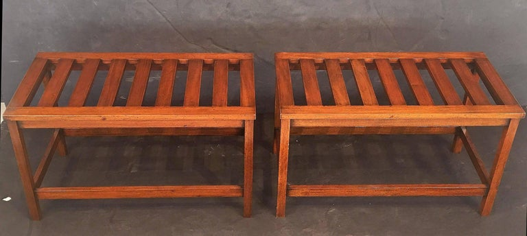 20th Century English Luggage Racks of Mahogany 'Individually Priced' For Sale