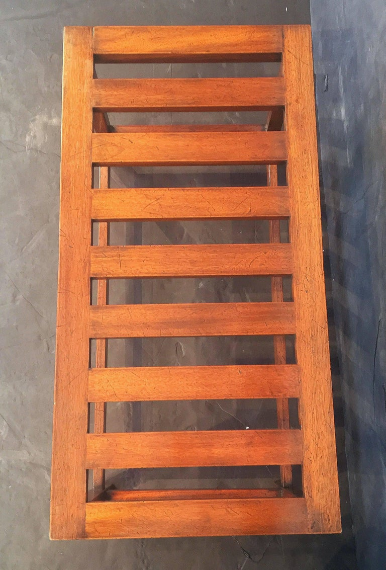 English Luggage Racks of Mahogany 'Individually Priced' For Sale 3