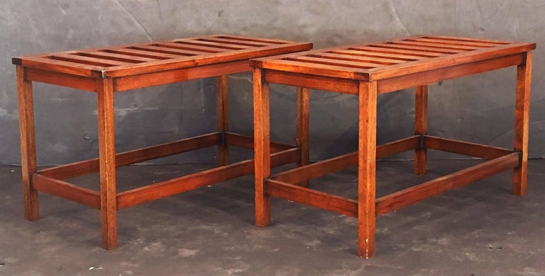 English Luggage Racks of Mahogany 'Individually Priced' For Sale 2