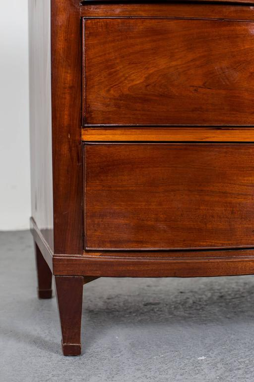 Chest of Drawers Danish Neoclassical 1790-1810 Mahogany Denmark For Sale 1