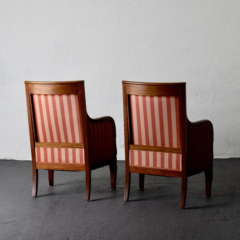19th Century Chairs Pair of Empire French Mahogany France For Sale