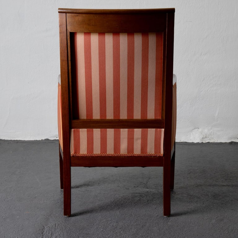 Chairs Pair of Empire French Mahogany France For Sale 1
