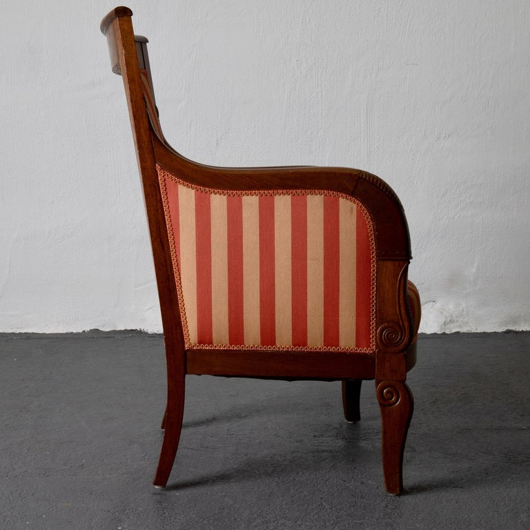 Chairs Pair of Empire French Mahogany France For Sale 2
