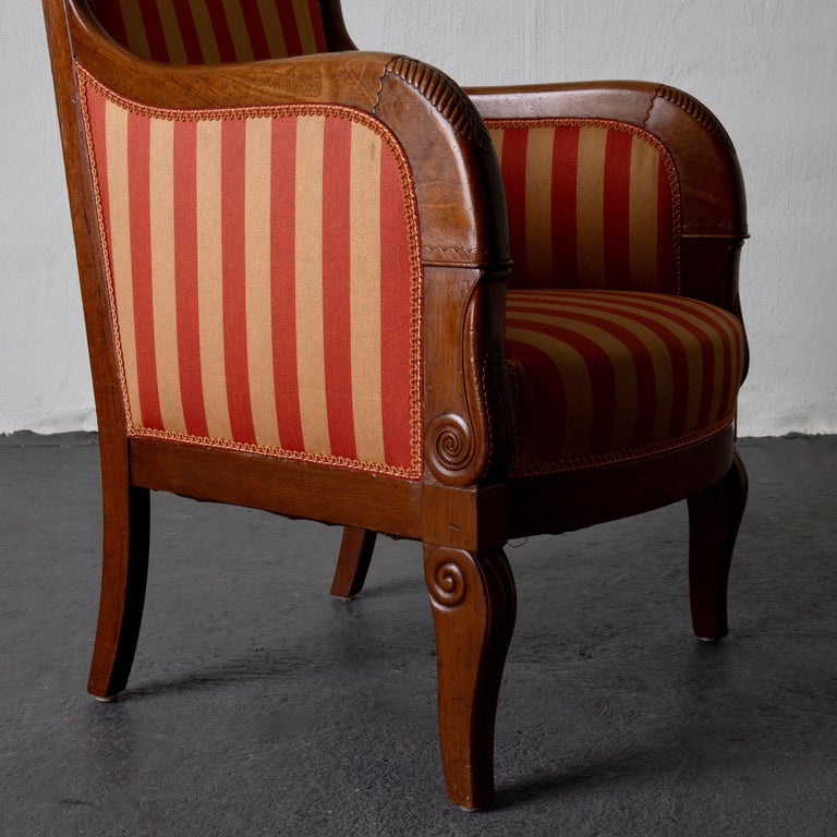 Chairs Pair of Empire French Mahogany France For Sale 3