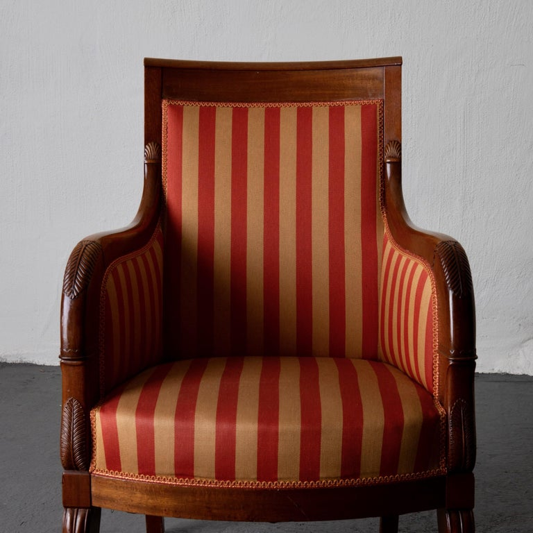 Chairs Pair of Empire French Mahogany France For Sale 5