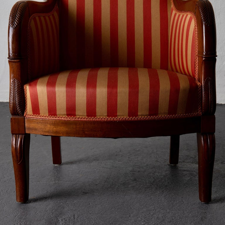 Chairs Pair of Empire French Mahogany France For Sale 6