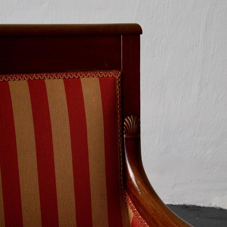 Chairs Pair of Empire French Mahogany France For Sale 7