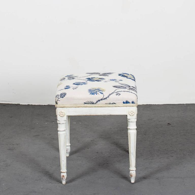 Painted A Pair of Swedish Gustavian Stools For Sale