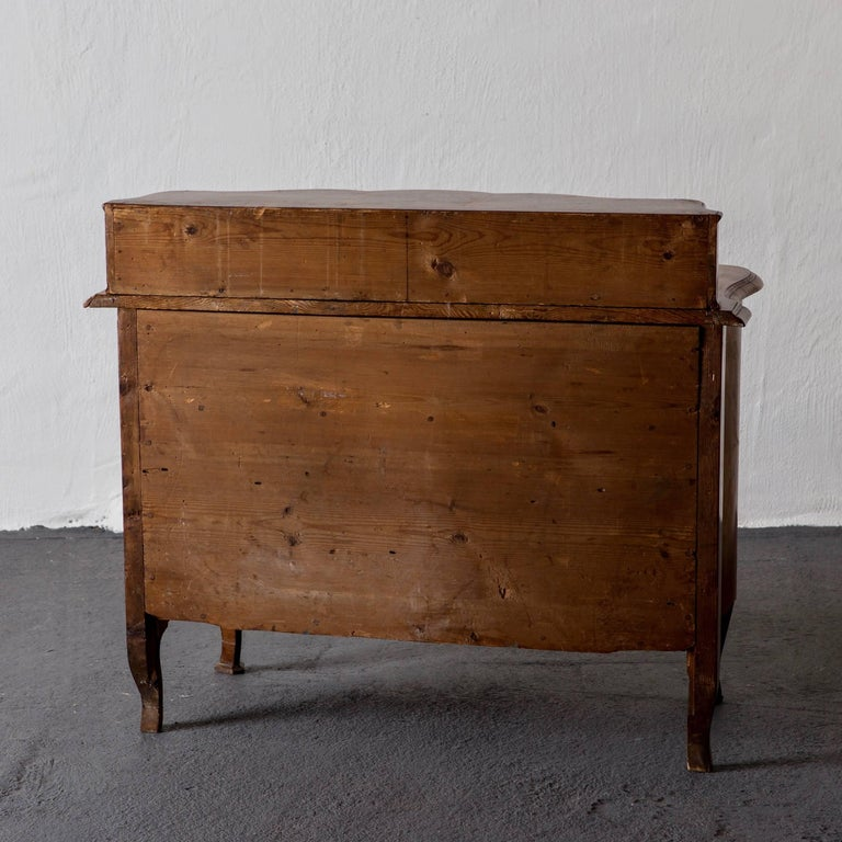 Chest of Drawers Swedish Late Baroque Period with Brass Hardware Sweden For Sale 3