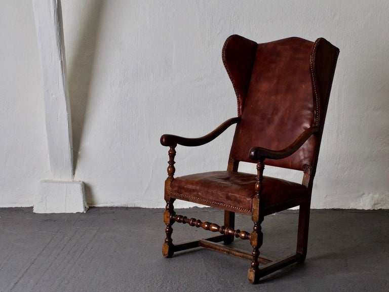 Chair Wingback Swedish Baroque Period Sweden At 1stdibs