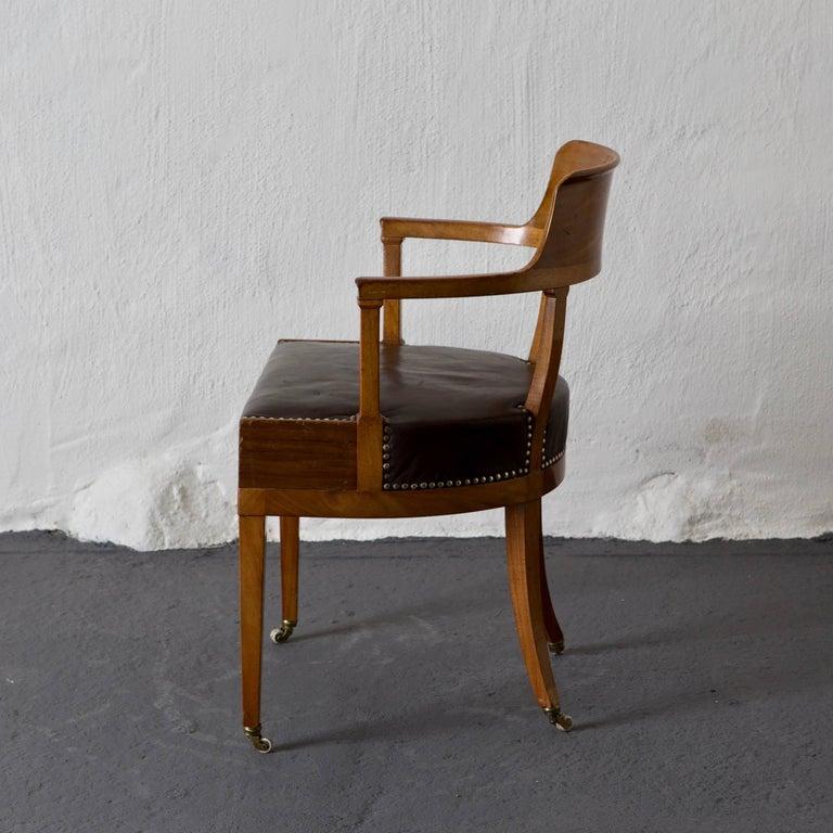 Desk Chair Swedish Karl Johan Empire, 19th Century, Sweden For Sale at 1stdibs