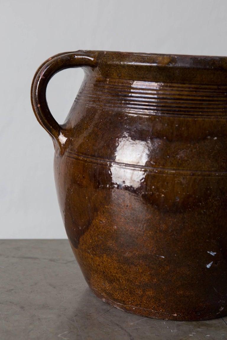 Folk Art Pottery Jar Swedish, 19th Century, Sweden For Sale
