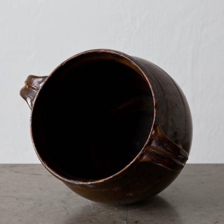 Glazed Pottery Jar Swedish, 19th Century, Sweden For Sale