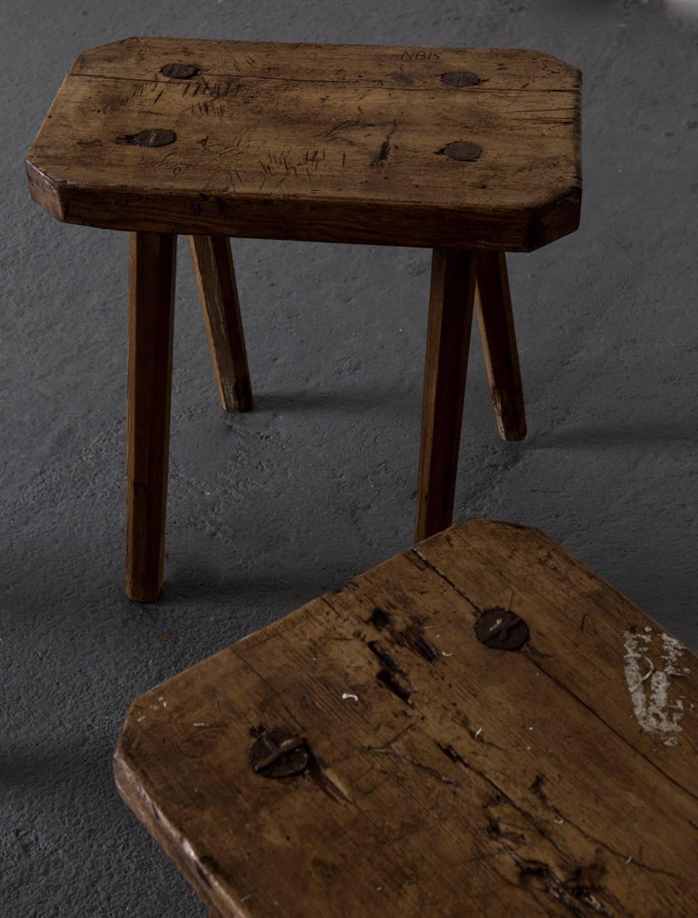 Stools Benches Swedish 19th Century, Sweden In Excellent Condition For Sale In New York, NY