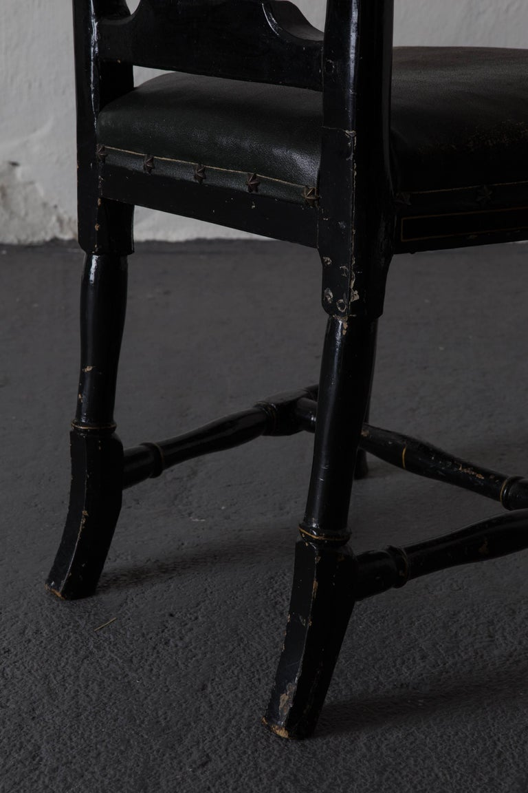 Chairs Pair of Chinoiserie 18th Century Sweden For Sale 4