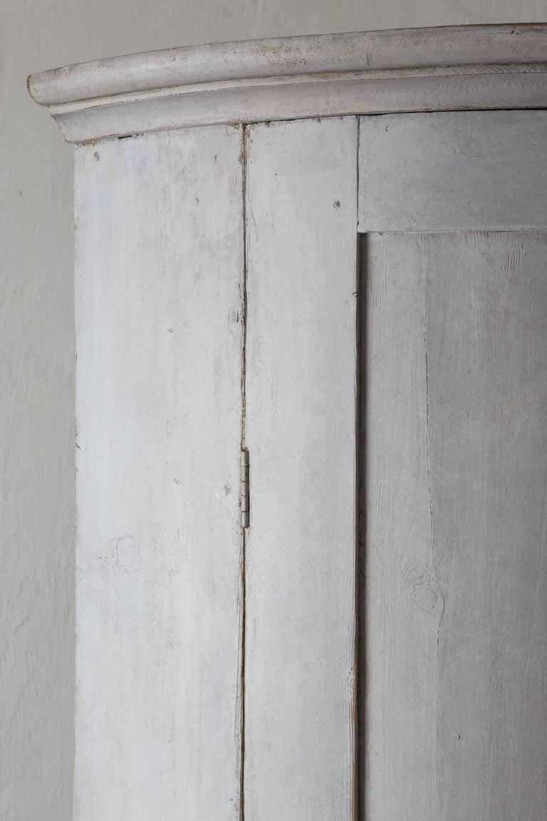 Cabinet Corner Swedish Gustavian White Neoclassical 19th Century Swedish  For Sale 5
