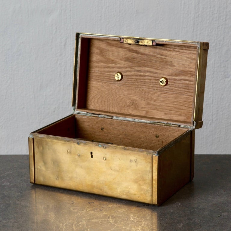 Modern Box Decorative Brass Swedish, 20th Century, Sweden For Sale