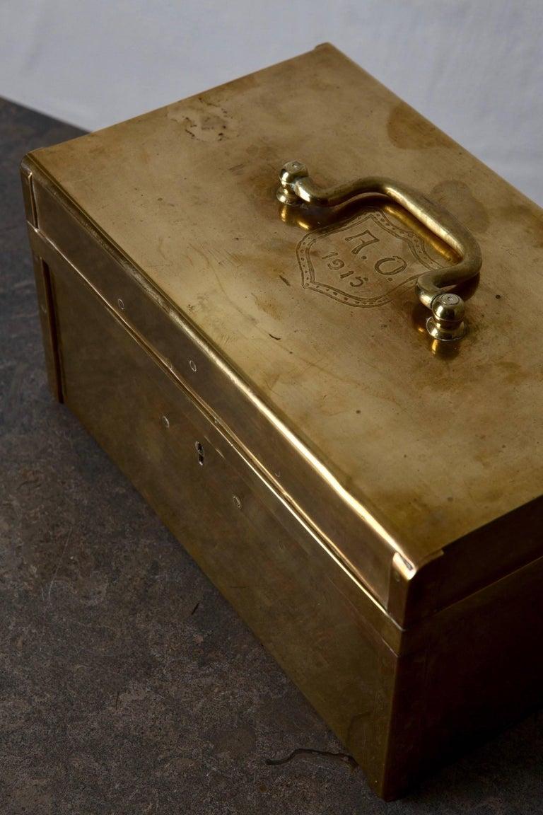 Box Decorative Brass Swedish, 20th Century, Sweden For Sale 1